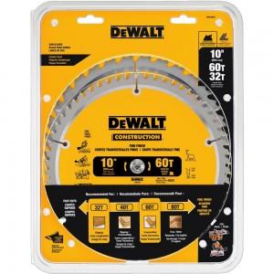 DEWALT DW3106P5 得偉 10吋雙鋸片組(60齒+32齒)