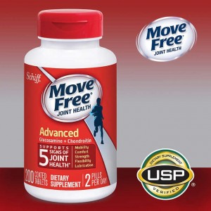 Move Free Advanced Tablets with Glucosamine and Chondroitin 200粒 美國好事多 葡萄糖胺錠